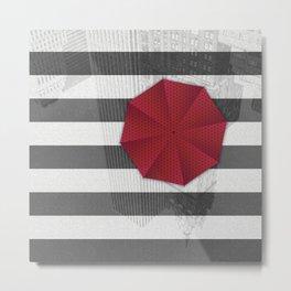 Rainy day in Manhattan Metal Print