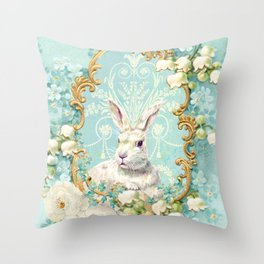 The White Rabbit Throw Pillow