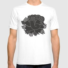 BLACK HANDS MEDIUM Mens Fitted Tee White
