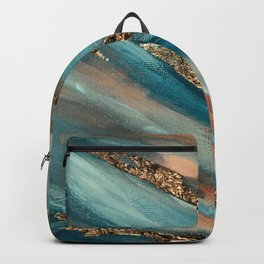 Colorful Paint Brushstrokes Gold Foil Backpack