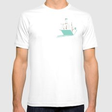 Sea of Knowledge Mens Fitted Tee White MEDIUM