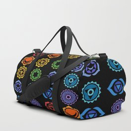SEVEN CHAKRA SYMBOLS OF HEALING ART #3 Duffle Bag