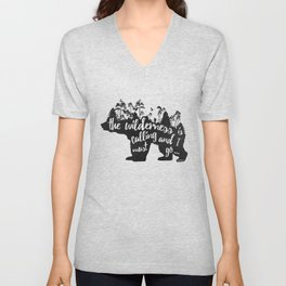 Wild Call - Bear Unisex V-Neck