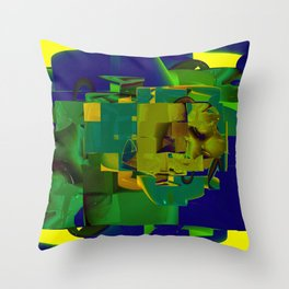 Masters of Industry Throw Pillow