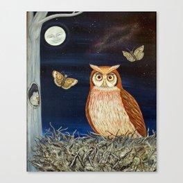 MNO Alphabet Owl Canvas Print