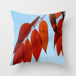 Vermillion Fingers Throw Pillow