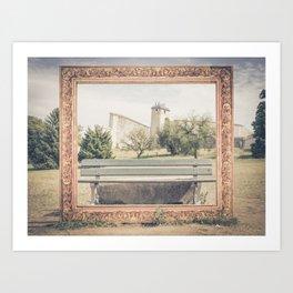 Into the frame BESANCON FRANCE Art Print