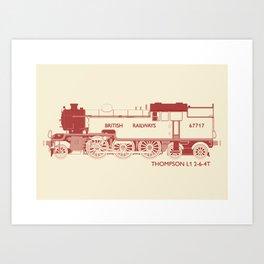 Thompson L1 Red Art Print