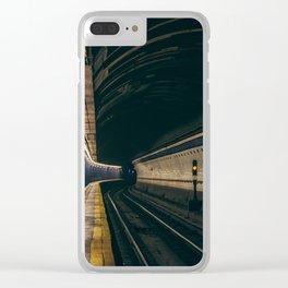 Brooklyn Bridge Subway Station Clear iPhone Case