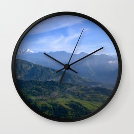 View of Besisahar - Greg Katz Wall Clock