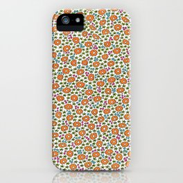 Ditsy Flora Orange iPhone Case