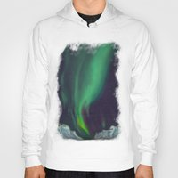 northern lights Hoodies featuring northern lights by Ewa Pacia