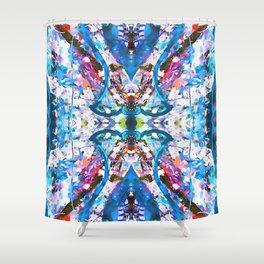 Pitlane Glitch Shower Curtain