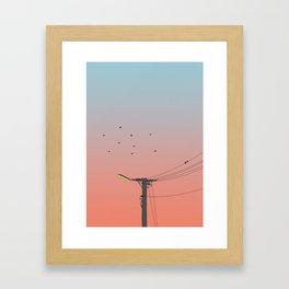Lampost Sunset Framed Art Print