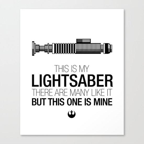 This is my Lightsaber (Luke Version) Canvas Print