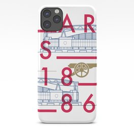 Emirates - Arsenal - Typoline Stadiums iPhone Case