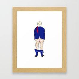 Trump Butt Framed Art Print