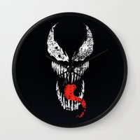 venom Wall Clocks featuring Venom by WaXaVeJu