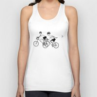 cycling Tank Tops featuring Keep Cycling by Drew Linne