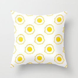 Eggs Pattern Throw Pillow