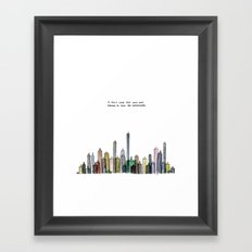 I felt like the city was trying to tell me something. Framed Art Print