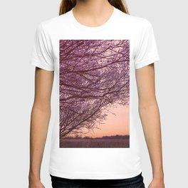 Purple Tree, Coral Orange Sky T-shirt