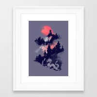 dragon Framed Art Prints featuring Samurai's life by Picomodi