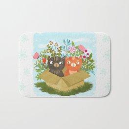 Carton Of Cute Kitties Bath Mat