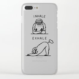 Inhale Exhale Sloth Clear iPhone Case