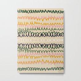 Abstract Contemporary Print 075 - mid century print, geometric retro, abstract wall art, abstract vi Metal Print