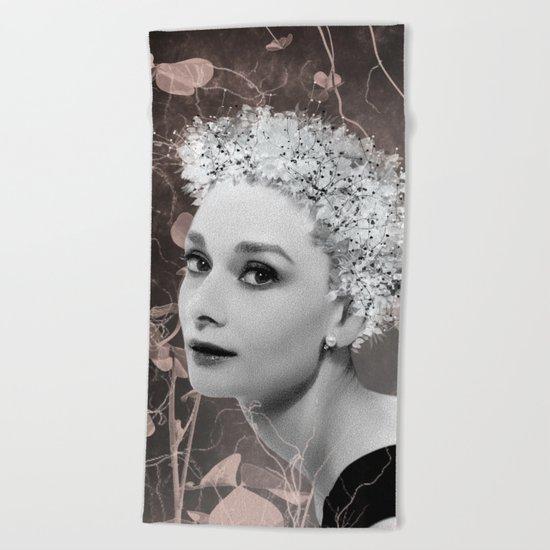 Audrey in White Beach Towel