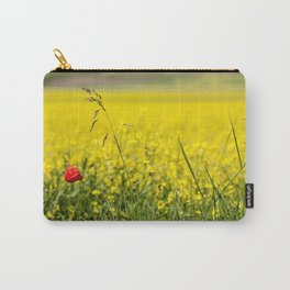 Red poppy in a yellow field Carry-All Pouch