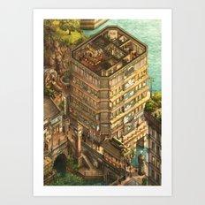 Amber House Art Print