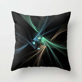 Fractal Convergence Throw Pillow