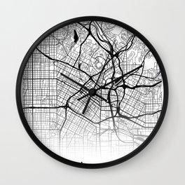 City Map Neck Gaiter Los Angelos California Neck Gator Wall Clock