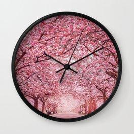 Cherry Blossom in Greenwich Park Wall Clock