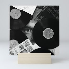 Long-playing Records and Covers in Black and White - Good Memories #decor #society6 #buyart Mini Art Print