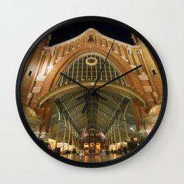 Colon Market of Valencia Wall Clock