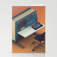 computer Stationery Cards featuring Vintage Computer by Michiel van den Berg