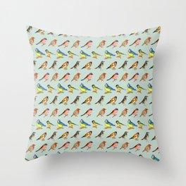 British Birds Throw Pillow