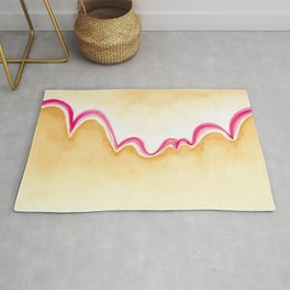 Abstract bouncy mountains Rug