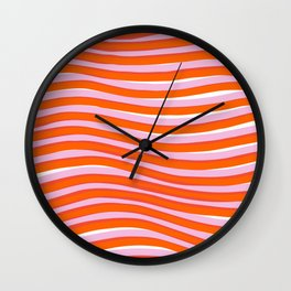 electric zebra stripes Wall Clock