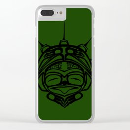 Ink Frog Grass Clear iPhone Case