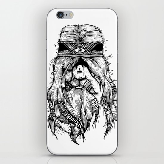 Feel, Peace, Love & Power iPhone & iPod Skin