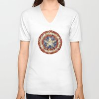 steve rogers V-neck T-shirts featuring Steve Rogers' Garden by Joan-of-here