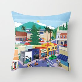 Town of Los Gatos (A Day in the Life) Throw Pillow