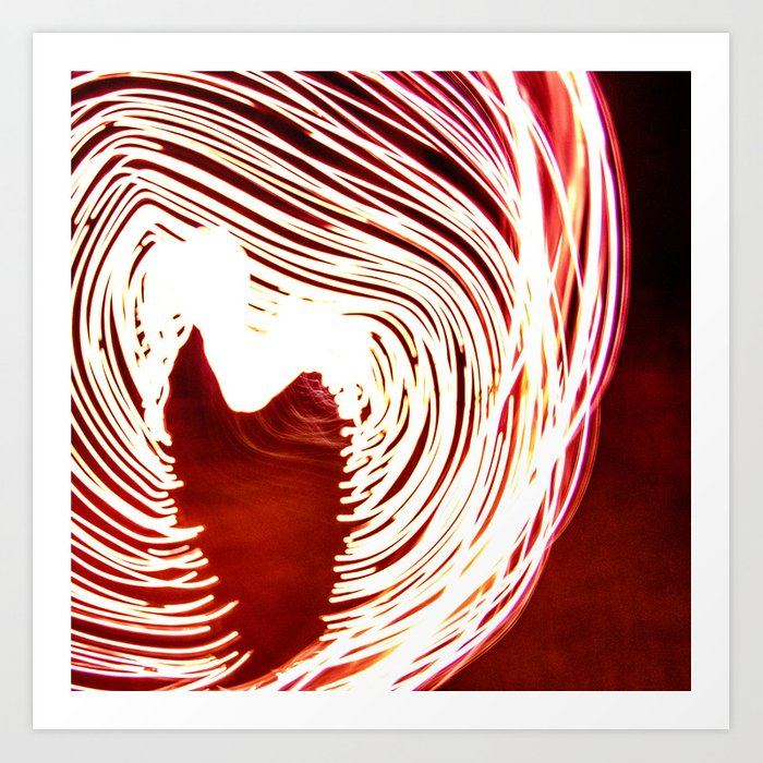 Love on fire Art Print