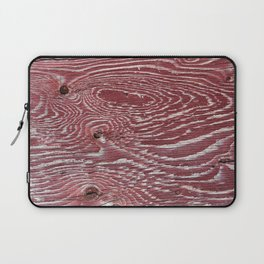 Red Painted Plywood Laptop Sleeve
