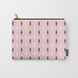 Cat Silhouettes - Pink Carry-All Pouch