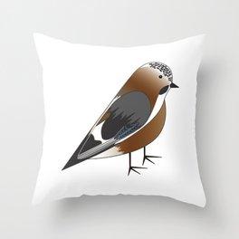 Eurasian Jay Throw Pillow